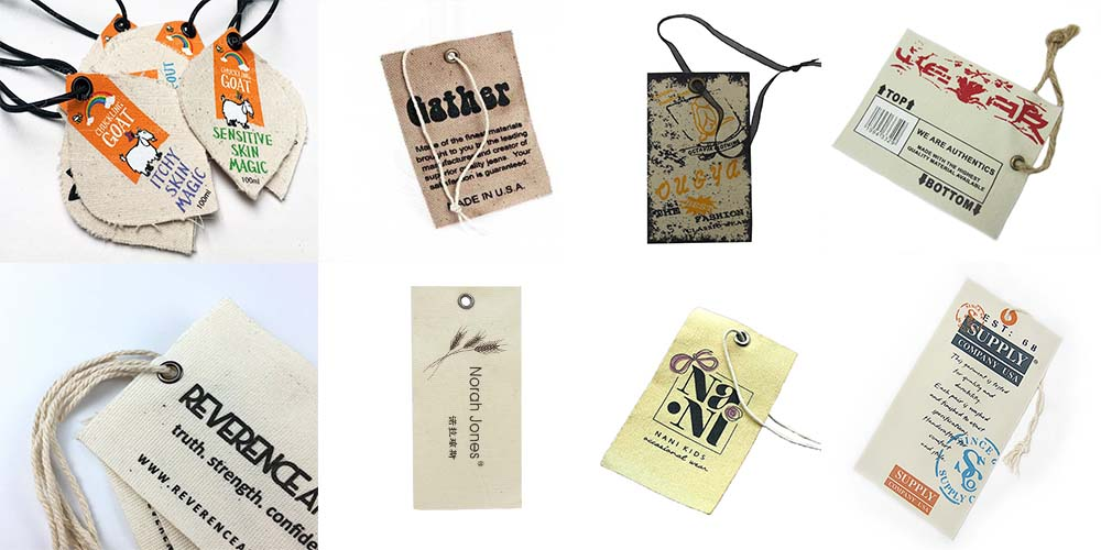 Fashion Design Cotton Fabric Branding Tags